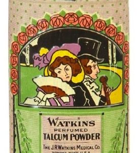 Watkins Talcum Powder Tin