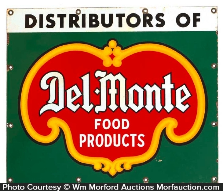 Del-Monte Porcelain Sign