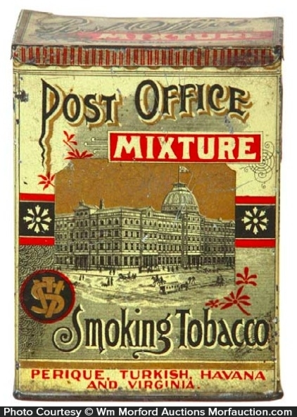 Post Office Mixture Tobacco Tin