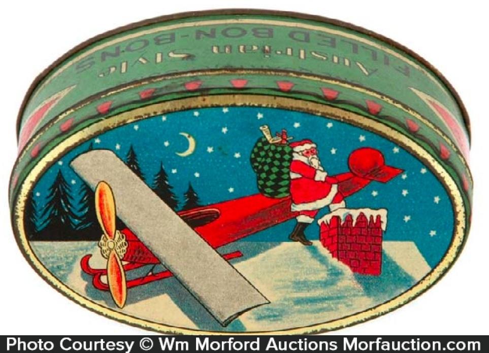 Woolworth's Santa Candy Tin