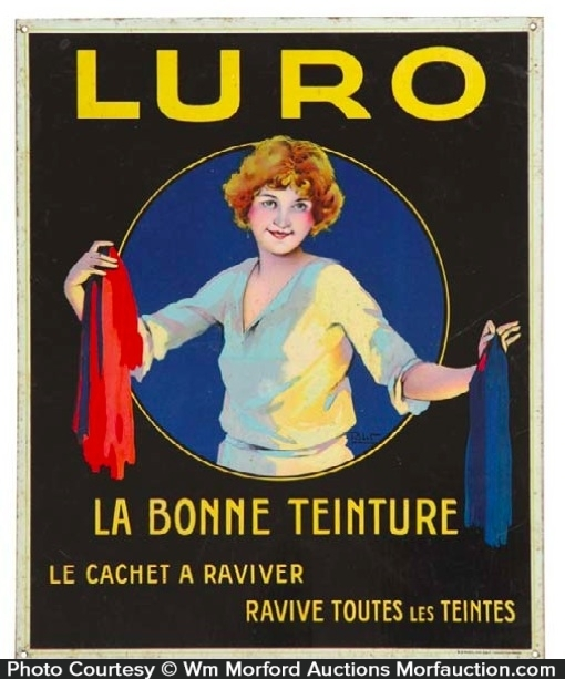 Luro La Bonne Teinture Dyes Sign
