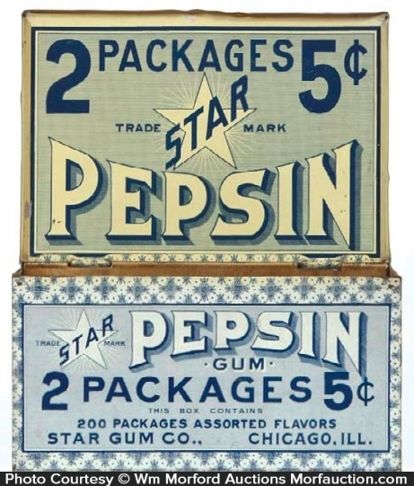Star Pepsin Gum Tin