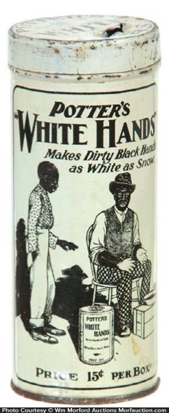 White Hands Soap Tin