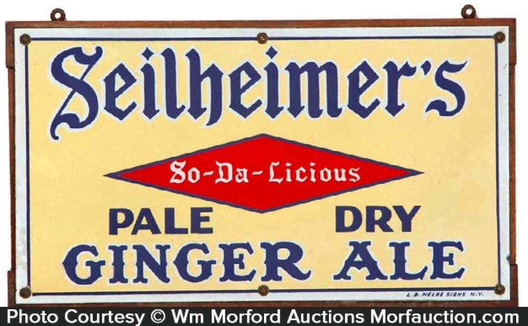Seilheimer's Ginger Ale Sign
