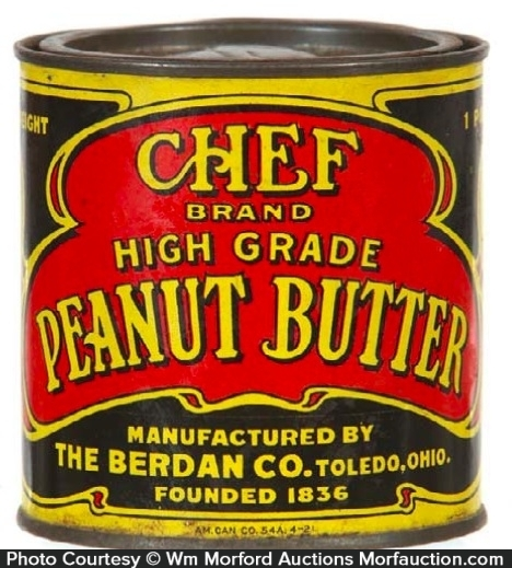 Chef Peanut Butter Tin