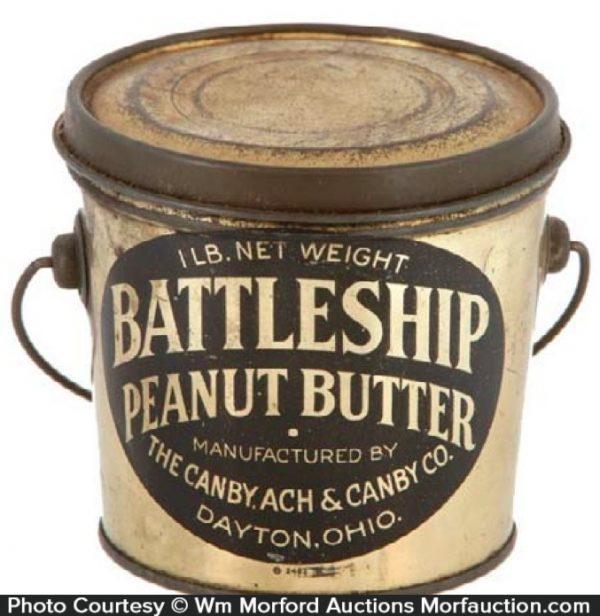 Battleship Peanut Butter Pail