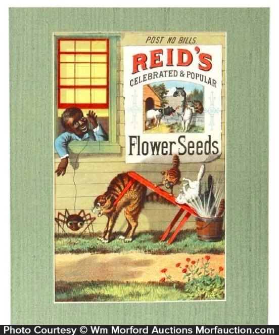Reid's Flower Seeds Sign