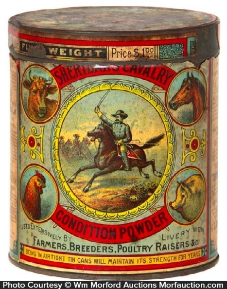 Sheridan Calvary Condition Powder Tin