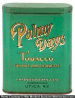 Palmy Days Tobacco Tin