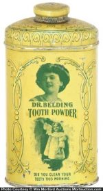 Dr. Belding Tooth Powder Tin