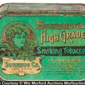 Surbrug' High Grade Tobacco Box