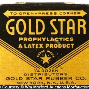 Gold Star Condom Tin