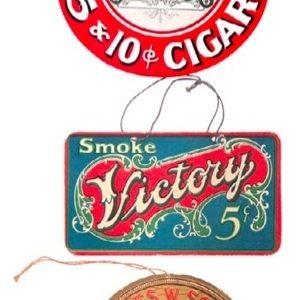 Vintage Cigar Hanger Signs