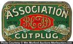 Association Cut Plug Tobacco Tin