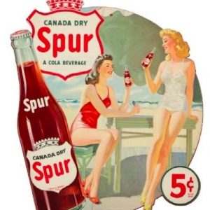 Spur Soda Hanging Sign