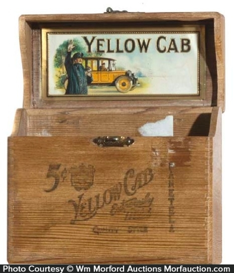 Yellow Cab Cigar Box
