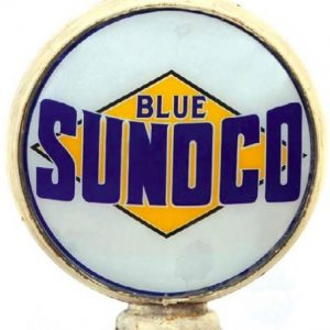 Blue Sunoco Gas Globe