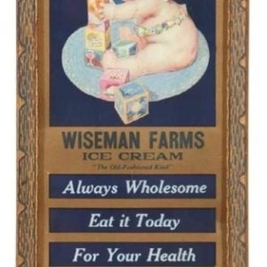 Wiseman Farms Ice Cream Sign