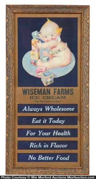 Wiseman Farms Ice Cream Sign