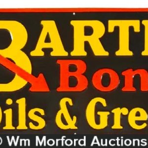 Bartles Bonded Oils & Greases Sign