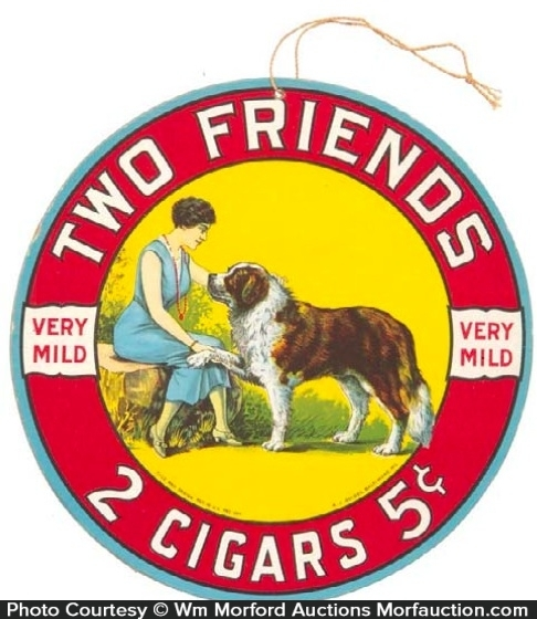 Two Friends Cigars Sign