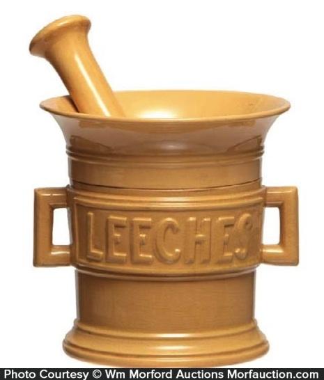 Yellow-Ware Leeches Jar