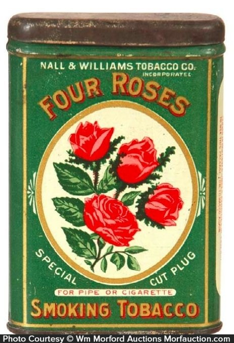 Four Roses Tobacco Tin