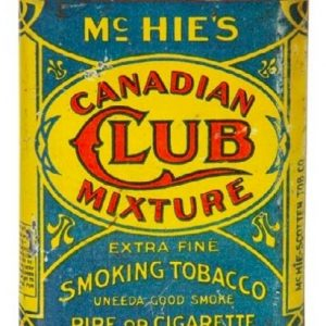 Mchie's Canadian Club Tobacco Tin