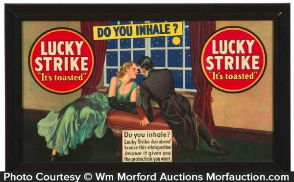 Lucky Strike Do You Inhale Sign