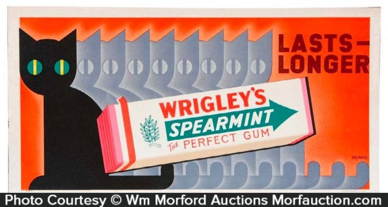 Wrigley's Spearmint Gum Sign
