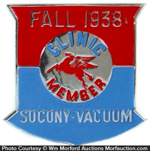 Socony Service Station Badge