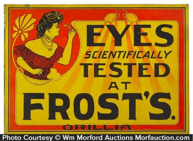 Frost's Optometrist Sign