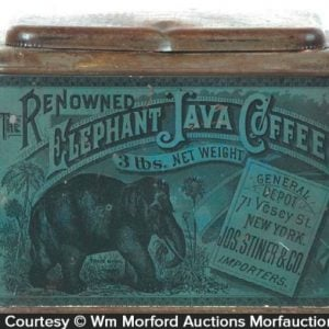 Elephant Java Coffee Tin