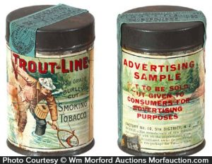 Trout Line Tobacco Sample Tin