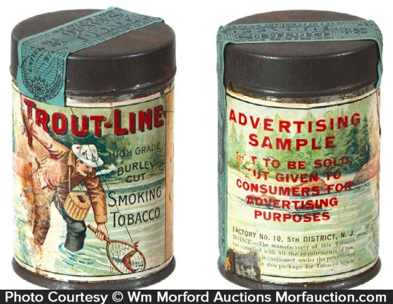 Trout Line Tobacco Sample Tin