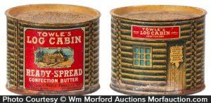 Log Cabin Maple Butter Tin