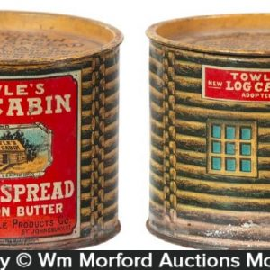 Log Cabin Maple Butter Tin