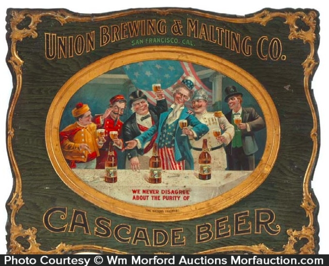 Union Brewing Cascade Beer Sign