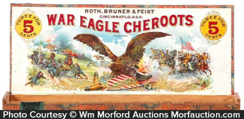 War Eagle Cheroots Cigar Box