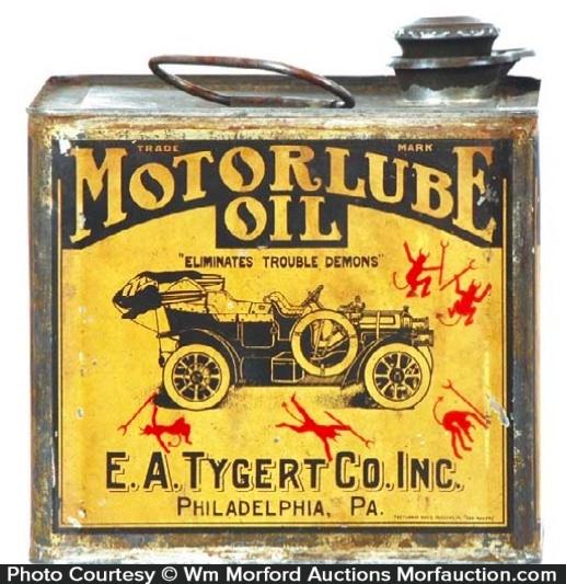 Motorlube Oil Can