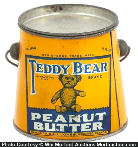 Teddy Bear Peanut Butter Pail