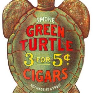 Green Turtle Cigars Sign