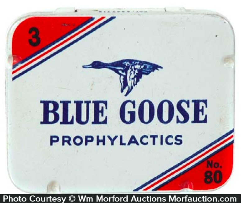 Blue Goose Condom Tin