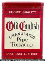 Old English Pipe Tobacco Tin