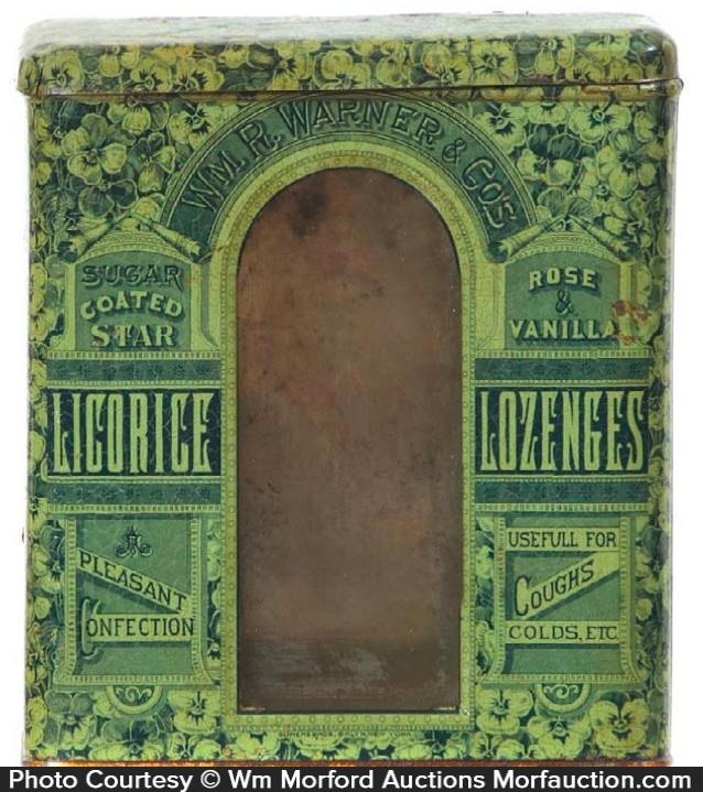 Warner Licorice Lozenges Tin