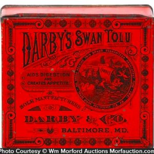 Darby's Swan Tolu Tin