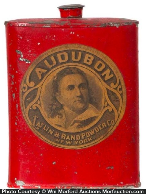 Audubon Gun Powder Tin