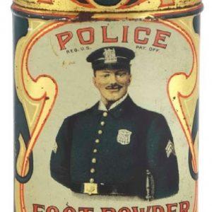 Police Foot Powder Tin