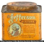Jefferson Mixture Tobacco Can