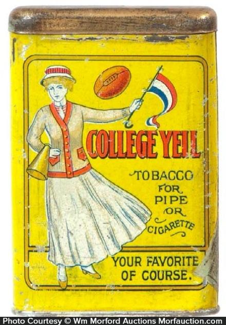College Yell Tobacco Tin